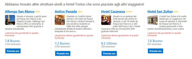 Gli altri hotel su Booking