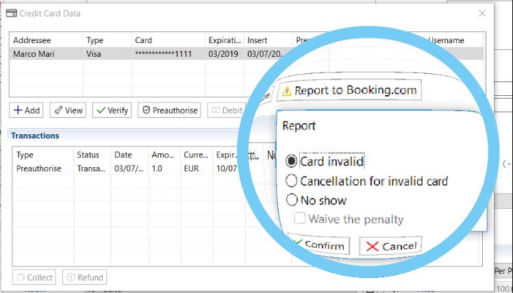 Come segnalare una carta non valida a Booking.com